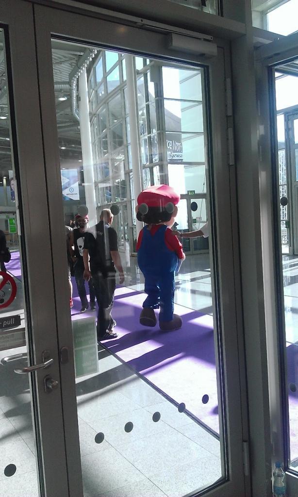 Mario était là pour nous accueillir