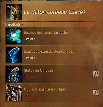 Craft le baton corbeau