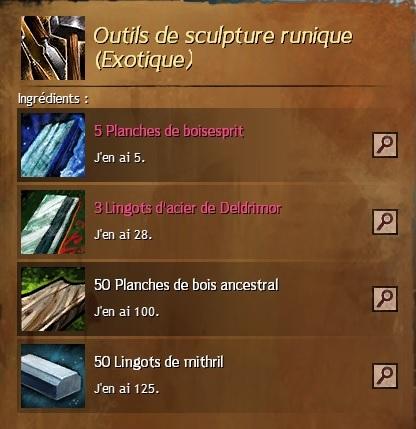 Craft outils de sculture runique