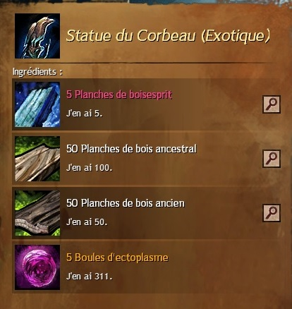 Craft statue du corbeau