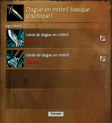 Dague en mithril basique