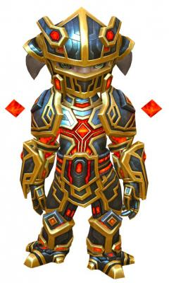 Electromagnetic armor asura male front