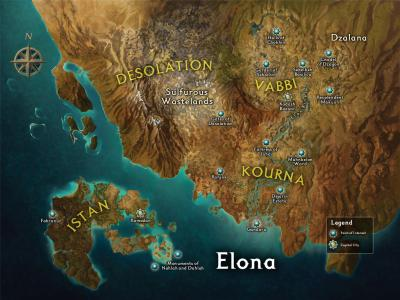 Elona unexplored map