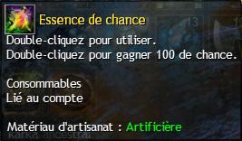 Essence chance