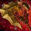 Gold fractal axe