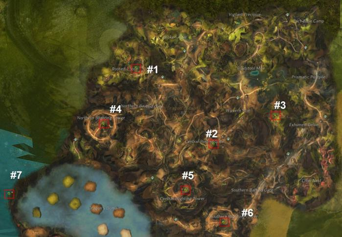 Gw2 dragons stand hero points map