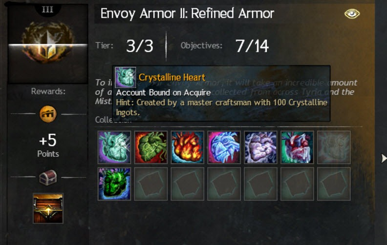 Gw2 envoy armor refined armor collection