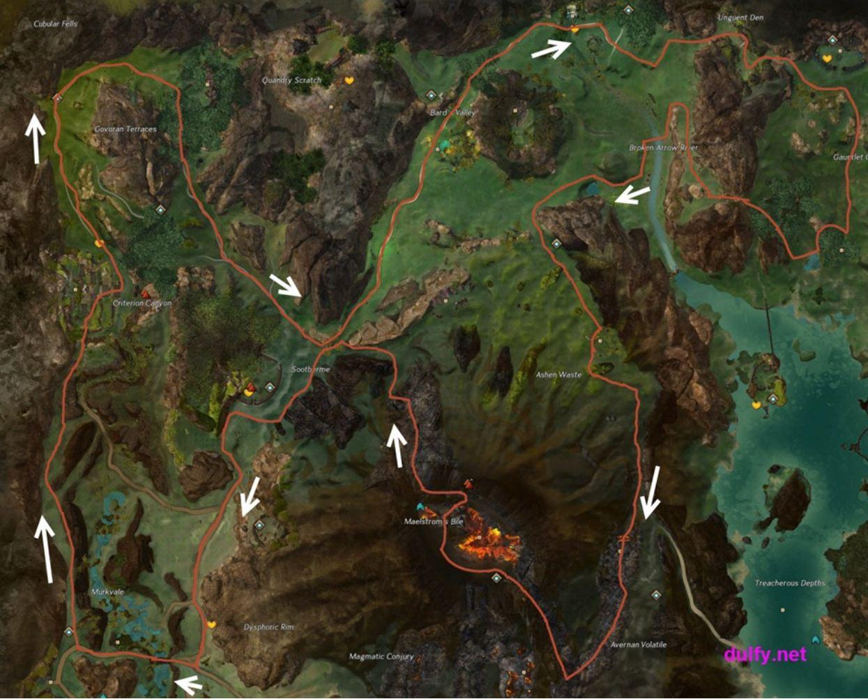 les primes de guilde Gw2-half-baked-komali-map