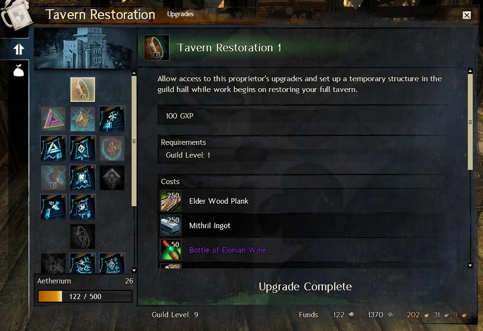 Gw2 tavern restoration