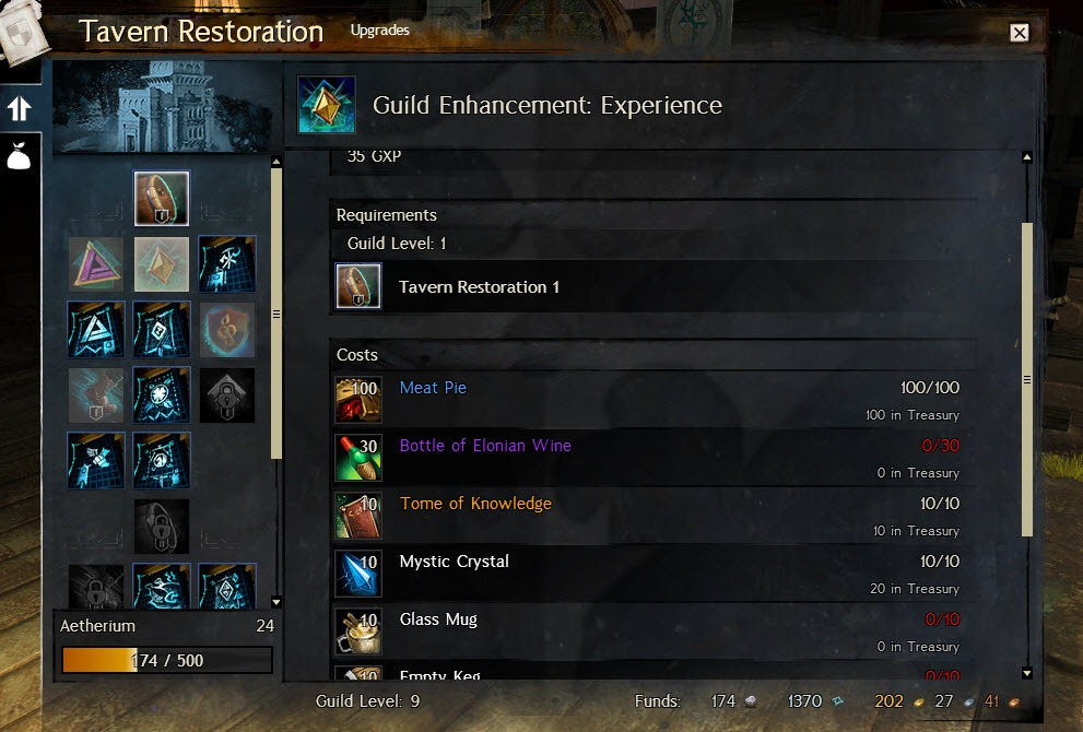 Gw2 travern upgrades