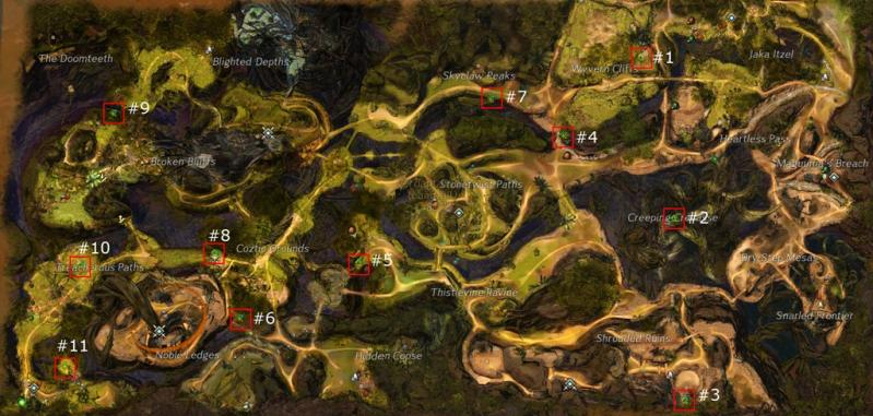 Gw2 verdant brinks hero points map