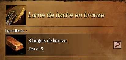 Lame de hache en bronze