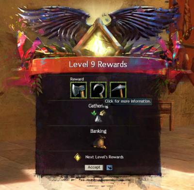 Level up rewards