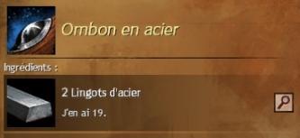 Ombon acier