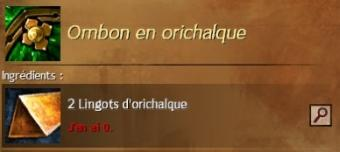 Ombon orichalque