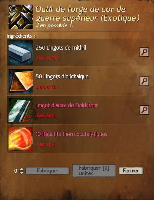 Outil de forge de cor de guerre superieur 2
