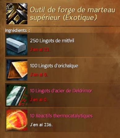 Outil de marteau de forge superieur