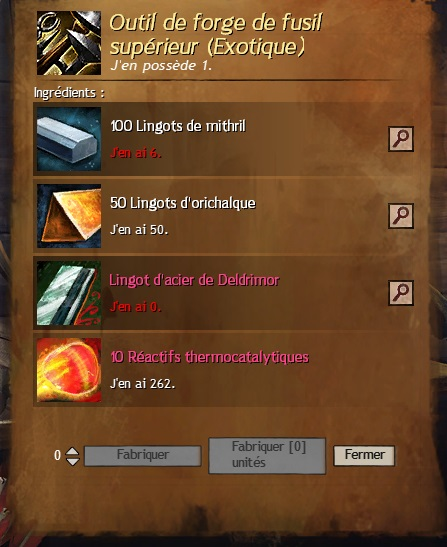 Outils forge superieur