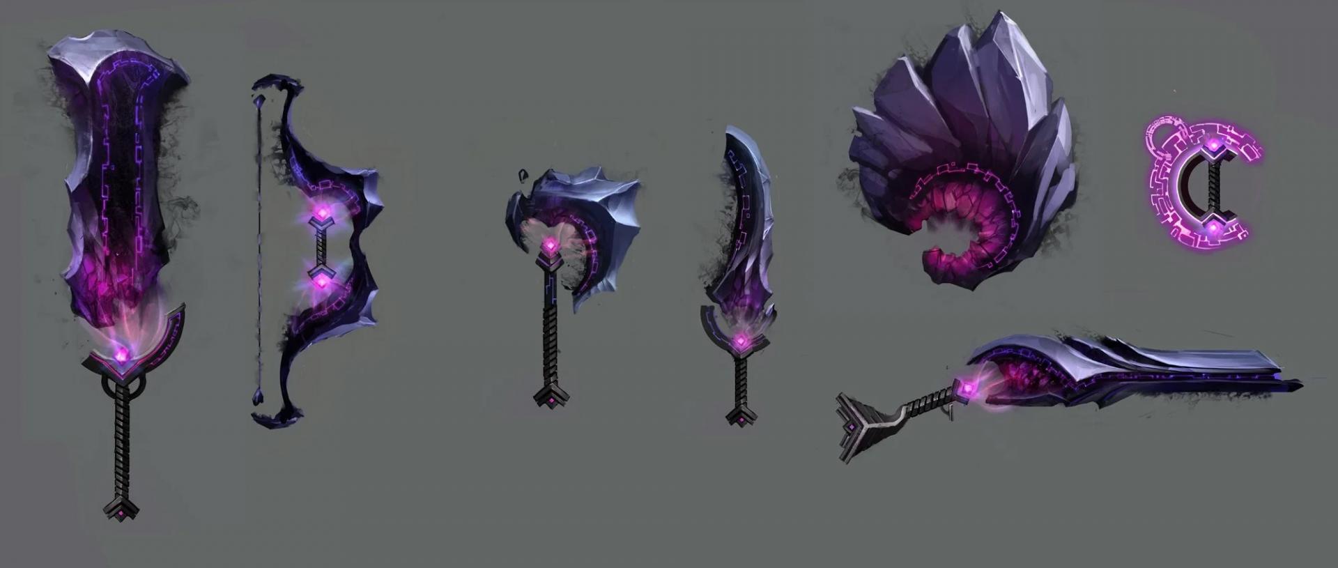 Armes fractales violettes