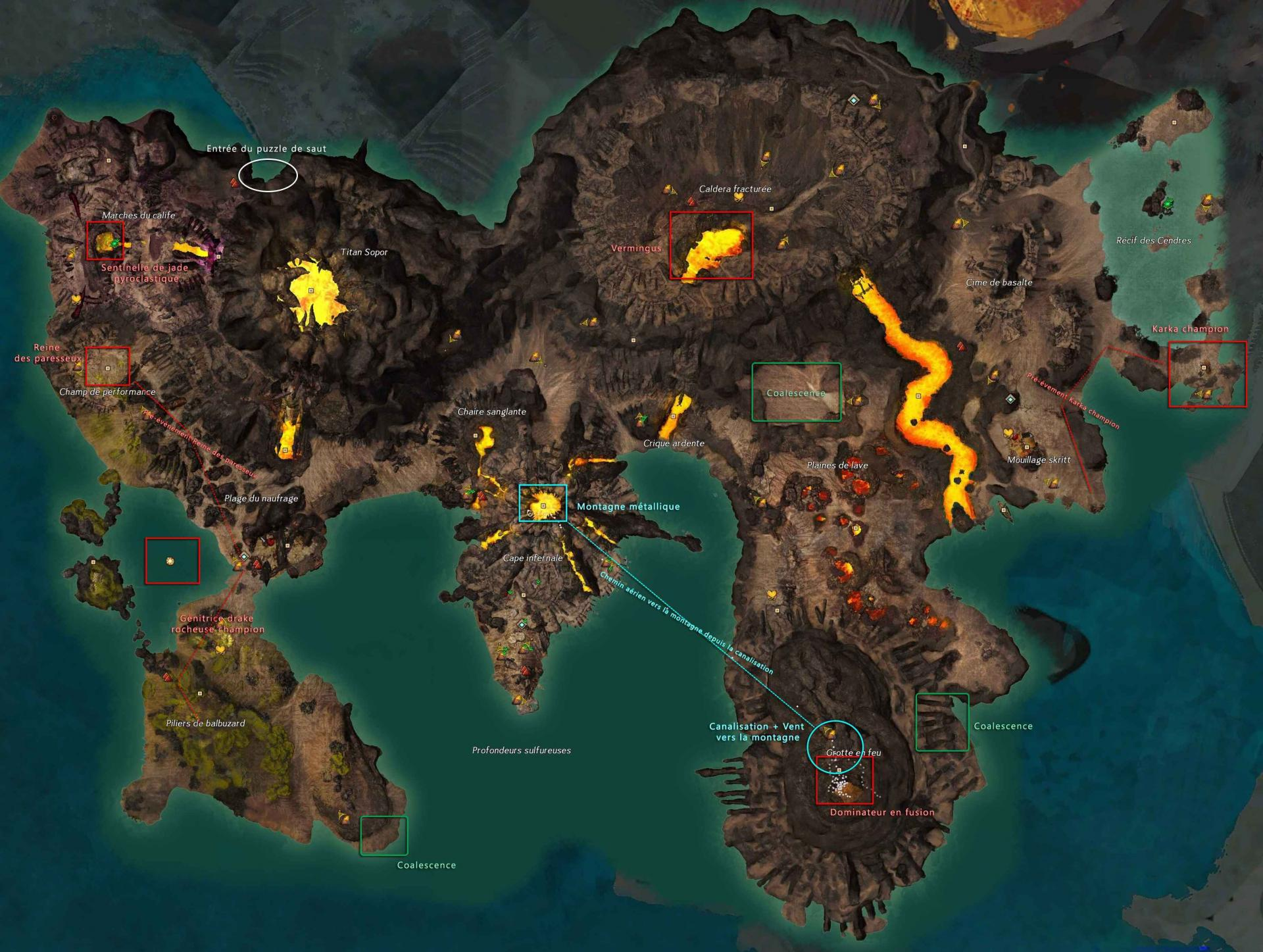 Carte des événements à succès de la Baie des Braises