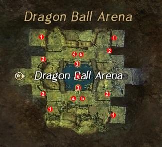 Carte de l arene de dragonball