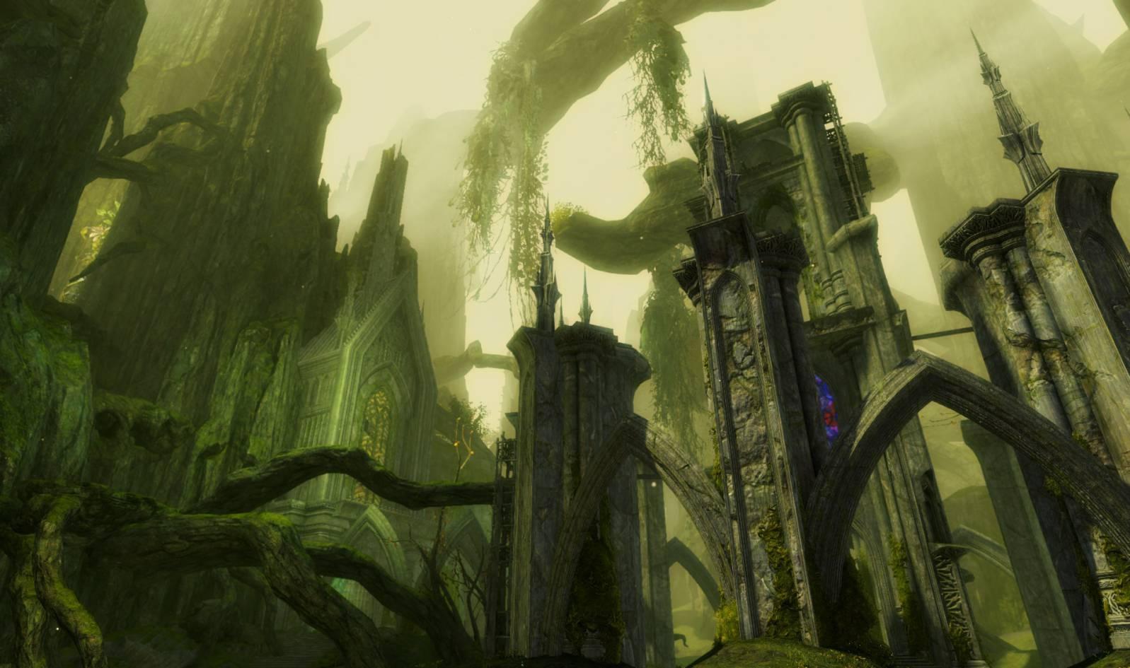 La forêt d'Echovald dans GW2