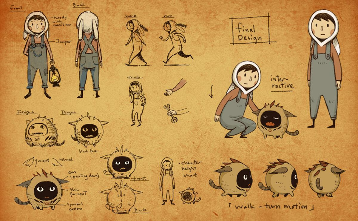 Luna the shadow dust charater design