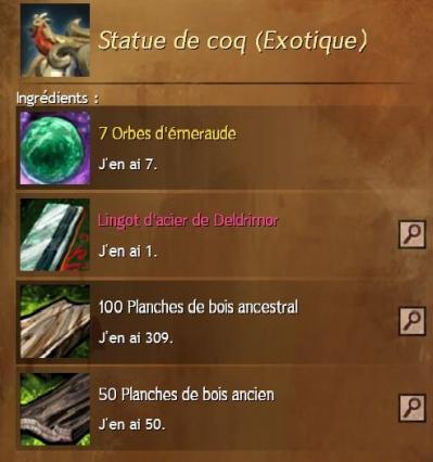 Recette statue de coq