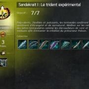 Sandekrait 1 le trident experimental